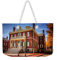 Weekender Tote Bag featuring the photograph The Custom House Salem Massachusetts  by Carol Japp