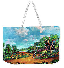 Weekender Tote Bag featuring the painting The Cycle Of Life by Randol Burns