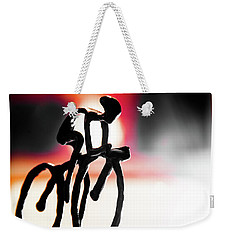 The Cycling Profile  Weekender Tote Bag by David Sutton
