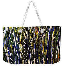 Weekender Tote Bag featuring the painting The Dancing Garden by Kicking Bear Productions