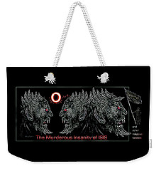 Weekender Tote Bag featuring the painting The  Dark  Ones by Hartmut Jager