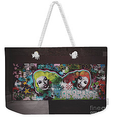 Weekender Tote Bag featuring the photograph The Dark Side -  Graffiti by Colleen Kammerer