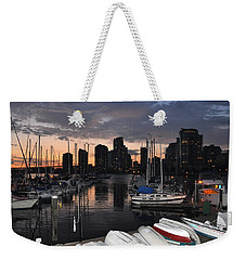 The Day Ends At The Marina Weekender Tote Bag