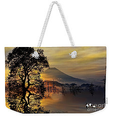 Weekender Tote Bag featuring the digital art The Days Blank Slate by Chris Armytage