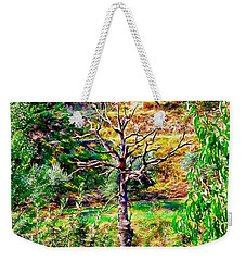 Weekender Tote Bag featuring the photograph The Dead Tree Dominates by Dorothy Berry-Lound