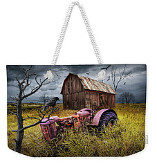 Weekender Tote Bag featuring the photograph The Decline And Death Of The Small Farm by Randall Nyhof