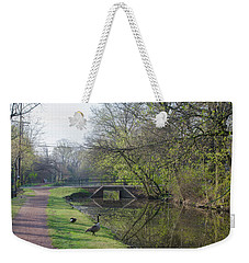 The Delaware Canal - Morrisville Pennsylvania Weekender Tote Bag by Bill Cannon