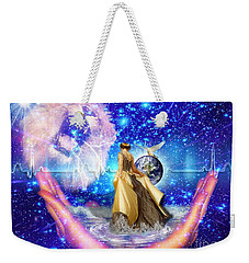 Weekender Tote Bag featuring the digital art The Depth Of Gods Love by Dolores Develde