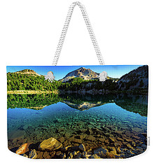 Weekender Tote Bag featuring the photograph The Depths Of Lake Helen by John Hight