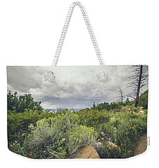 Weekender Tote Bag featuring the photograph The Desert Comes Alive by Margaret Pitcher