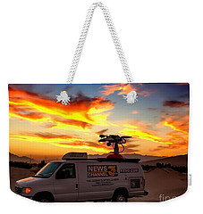 Weekender Tote Bag featuring the photograph The Deserts News Leader by Chris Tarpening