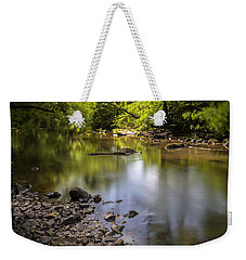 Weekender Tote Bag featuring the photograph The Devon River by Jeremy Lavender Photography