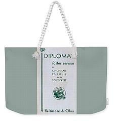 The Diplomat Weekender Tote Bag
