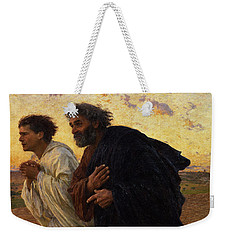 The Disciples Peter And John Running To The Sepulchre On The Morning Of The Resurrection Weekender Tote Bag