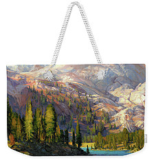 Weekender Tote Bag featuring the painting The Divide by Steve Henderson