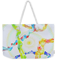 Weekender Tote Bag featuring the mixed media The Divine Within by Michele Myers