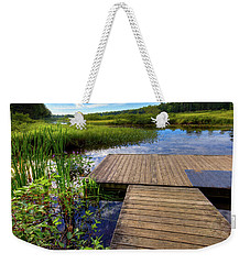 The Dock At Mountainman Weekender Tote Bag by David Patterson