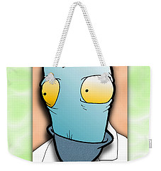 Weekender Tote Bag featuring the digital art The Doctor by Uncle J's Monsters