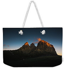 The Dolomites, Italy Weekender Tote Bag by Happy Home Artistry