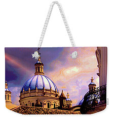The Domes Of Immaculate Conception, Cuenca, Ecuador Weekender Tote Bag by Al Bourassa