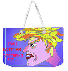 A Troll Named  Donald Weekender Tote Bag by Hartmut Jager
