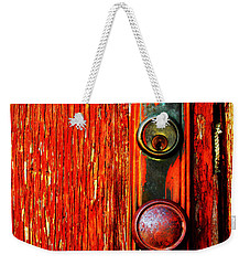 Weekender Tote Bag featuring the photograph The Door Handle  by Tara Turner