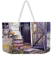 Weekender Tote Bag featuring the photograph The Door Is Always Open by Nancy Griswold