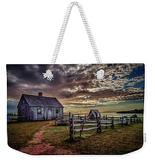 Weekender Tote Bag featuring the photograph The Doucet House by Chris Bordeleau