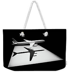 Weekender Tote Bag featuring the digital art The Douglas Dc-8 by Steve Taylor