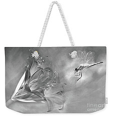 The Dragonfly And The Flower Weekender Tote Bag