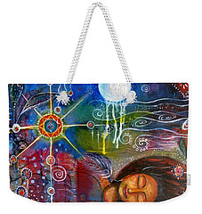 Weekender Tote Bag featuring the painting The Dreamer by Prerna Poojara