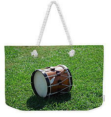 Weekender Tote Bag featuring the photograph The Drum by Eric Liller