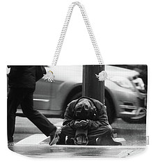 Weekender Tote Bag featuring the photograph The Dry People by Empty Wall