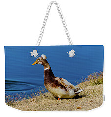 The Duck With The Pillbox Hat Weekender Tote Bag