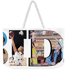 Weekender Tote Bag featuring the digital art The Dude Abides by Tom Roderick