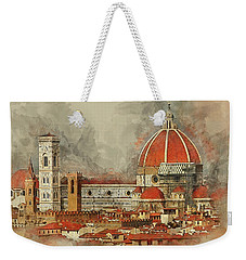 Weekender Tote Bag featuring the photograph The Duomo Florence by Brian Tarr