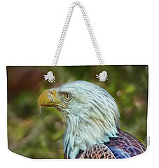 Weekender Tote Bag featuring the photograph The Eagle Look by Hanny Heim