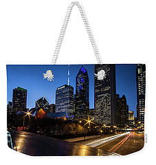 The East Side Skyline Of Chicago  Weekender Tote Bag