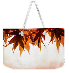 Weekender Tote Bag featuring the photograph The Eaves Of Season by Gene Garnace