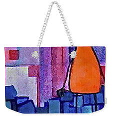 Weekender Tote Bag featuring the painting The Edge by Donna Howard
