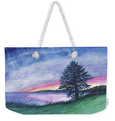 The Edge Of Evening Weekender Tote Bag