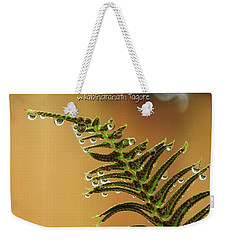 Weekender Tote Bag featuring the photograph The Edges Of Time by Peggy Hughes