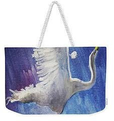 The Egret Weekender Tote Bag by Seth Weaver