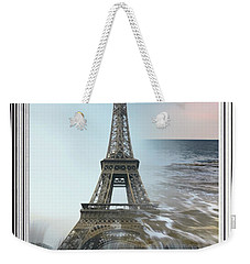 The Eiffel Tower In Montage Weekender Tote Bag