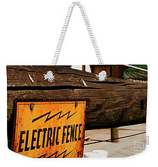 The Electric Fence Weekender Tote Bag by Bob Pardue