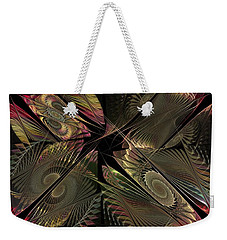 Weekender Tote Bag featuring the digital art The Elementals - Calling The Corners by NirvanaBlues