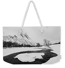 The Elements Of Winter Weekender Tote Bag by Alex Lapidus