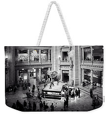 The Elephant In The Room In Black And White Weekender Tote Bag