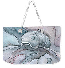 Weekender Tote Bag featuring the painting The Emperor by Steve Mitchell