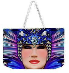 Weekender Tote Bag featuring the photograph The Empress Barbaka #192 by Barbara Tristan